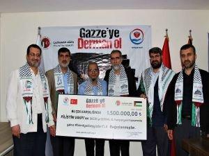 Yetimler Vakfı Gazze için 1,5 milyon TL bağış topladı