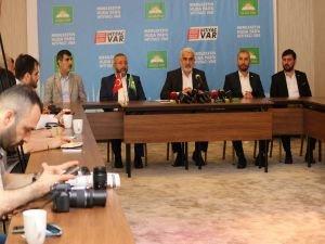 Yapıcıoğlu medya mensuplarıyla bir araya geldi