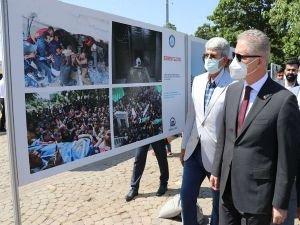 """Gaziantep'te """"Direnen Filistin"""" fotoğraf sergisi açıldı"""