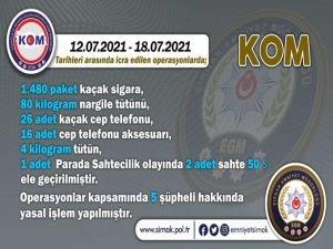 Şırnak'ta kaçakçılık ve asayiş operasyonları
