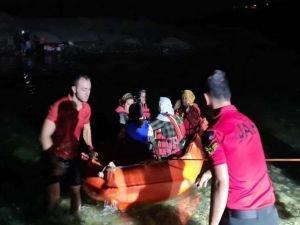 Dicle Nehrinde mahsur kalan 21 kişi kurtarıldı