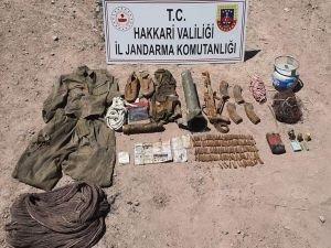 Hakkari'de PKK'ya ait mühimmat ele geçirildi