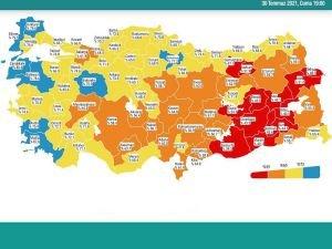 Van ve Erzurum kırmızı kategoriden turuncu kategoriye geriledi