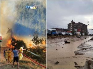 Ülkenin batısı orman yangınları doğusu sellerle boğuşuyor