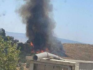Lübnan tarafından işgalci rejime füze fırlatıldı