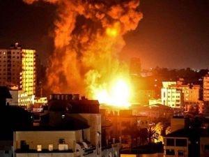 Siyonist işgal rejiminden Gazze'ye hava saldırısı