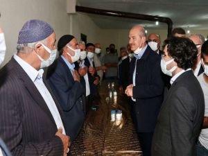 İçişleri Bakanı Soylu Ağrı'da taziye ziyaretlerinde bulundu