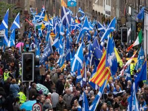 İskoçya'da bağımsızlık yanlıları gösteri düzenledi