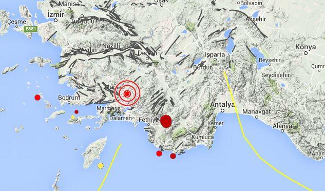 Muğla'da 4,0 şiddetinde deprem meydana geldi