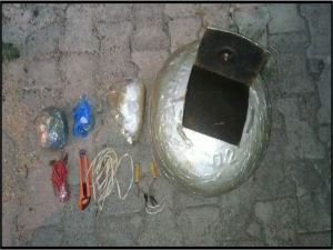 Tunceli'de patlayıcı yakalandı
