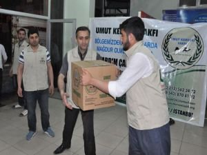 Umut Kervanı'ndan çatışma mağdurlarına yardım