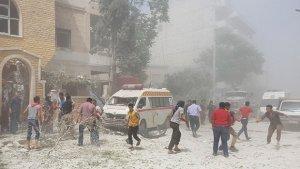 Esed rejimi füze ile saldırdı: 12 ölü, 5 yaralı