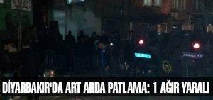Diyarbakır'da art arda patlama: 1 ağır yaralı