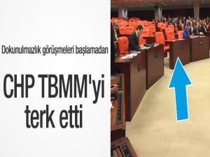 CHP'liler TBMM'yi terk etti