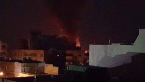 Nusaybin'de şiddetli patlama: 1 TIR alev aldı