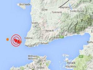 Çanakkale Gülpınar'da 3.1 şiddetinde deprem