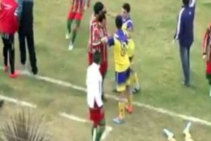 Futbol maçında kahreden ölüm!