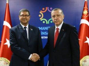 Cumhurbaşkanı Erdoğan, Tunus Başbakanı Habib Essid'i kabul etti