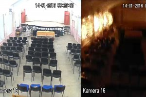 Çanar'daki patlam şiddeti kameraya yansıdı