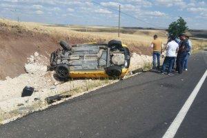 Araç takla attı:1 yaralı