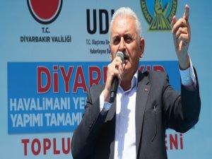 Başbakan Yıldırım Diyarbakır'da toplu açılış töreninde konuştu