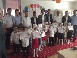 Kur'an Kursu öğrencilerine sertifika verildi