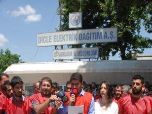 Dicle EDAŞ işçilerinden grev