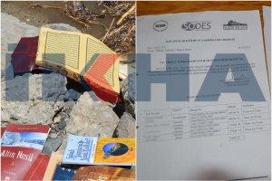 Nehre atılmış Kur'an, ve bazı belgeler bulundu