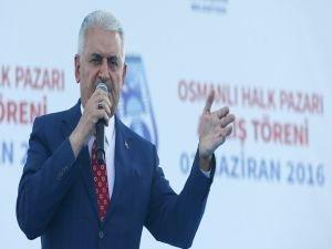 Başbakan Yıldırım, Osmanlı Pazarı'nın açılış törenine katıldı