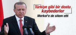 Erdoğan Merkel'e sitem etti