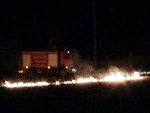 Ergani'de anız yangını korkuttu