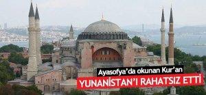 Yunanistan Ayasofya'da okunan Kur'an'dan rahatsız