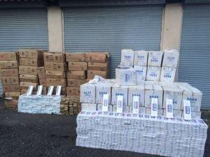 66 bin paket kaçak sigara yakalandı!