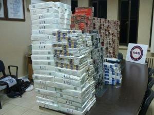 14 bin paket kaçak sigara ele geçirildi