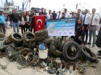 Akdeniz'den 500 ton çöp çıkarıldı!