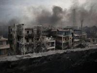 Halep'te bombardıman durdu