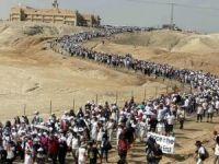 Filistin ve İsrail'li kadınlardan ortak barış yürüyüşü