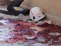 Esed sivil savunma merkezini bombaladı
