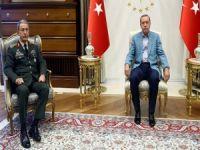 Erdoğan, Orgeneral Hulusi Akar'ı kabul etti