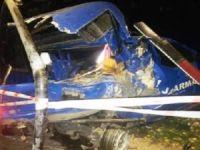 Yol kontrolü yapan askeri araca tır çarptı: 1 ölü, 2 yaralı