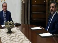 Cumhurbaşkanı Erdoğan, Hakan Fidan'ı kabul etti