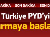 Türkiye Azez'deki PYD mevzilerini bombalıyor