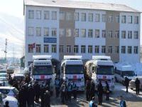 Bitlis'ten Halep'e Yardım TIR'ları