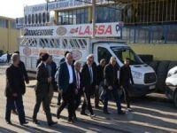 Vali Ahmet Deniz'den Yeni Sanayi esnafına ziyaret