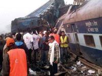 Hindistan'da tren faciası