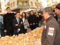 Başkan Kılıç'tan pazar ziyareti