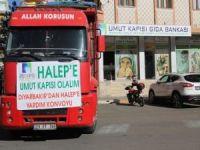 Umut Kapısı'ndan Halep'e 3 kamyon yardım