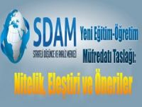 SDAM'dan Eğitim-Öğretim Müfredatı Taslağı