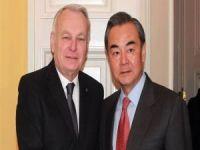 Çin ve Fransa dışişleri bakanları bir araya geldi