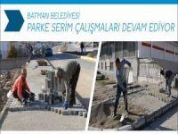 Batman'da parke serim çalışmaları devam ediyor